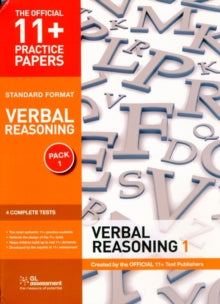 11+ Practice Papers, Verbal Reasoning Pack 1, Standard Format : Test 1, Test 2, Test 3, Test 4