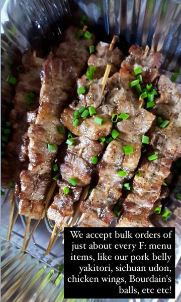 15 pcs PORK BELLY YAKITORI