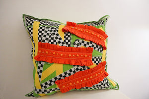 Checkboard bbi pillow