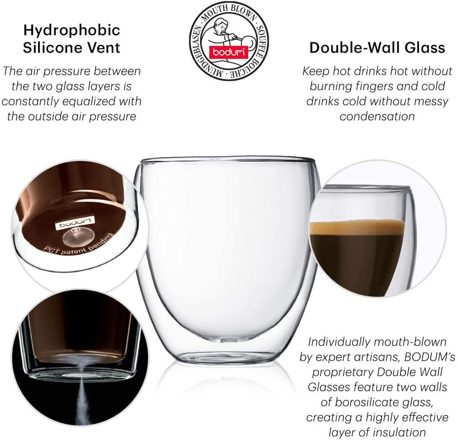 Bodum Insulated Glass Double Wall Transparent