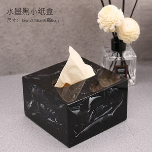 Marble Texture Bathroom Soap Dispenser and Tray
