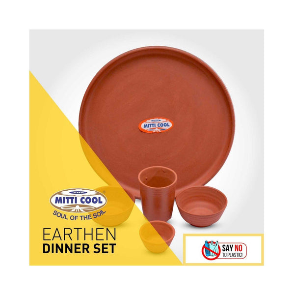 "Earthen Dinner Set 12"" - Combo - eMalhar"