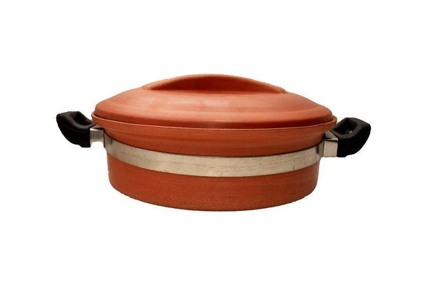 Earthen Handi (with Handle & Lid) 2 Ltr - eMalhar