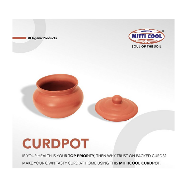 Clay Curd Pot - 1.5 Ltr