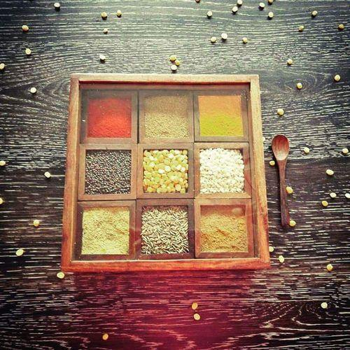 Wood Spice Box