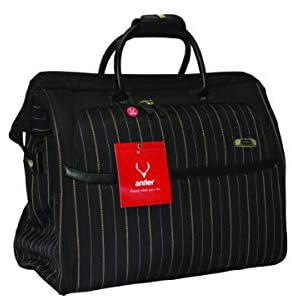 Antler UK New Bond Street Collection Gladstone Duffle Bag Black