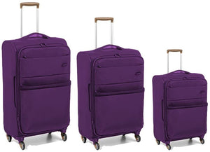 Open image in slideshow, Roncato Venice Soft Side Upright Trolley | Purple