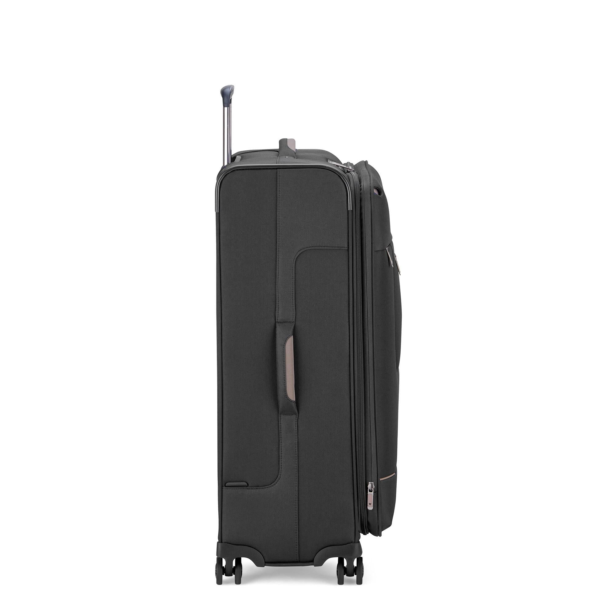 Roncato Sidetrack Large 75cm Upright Soft Side Trolley - Black