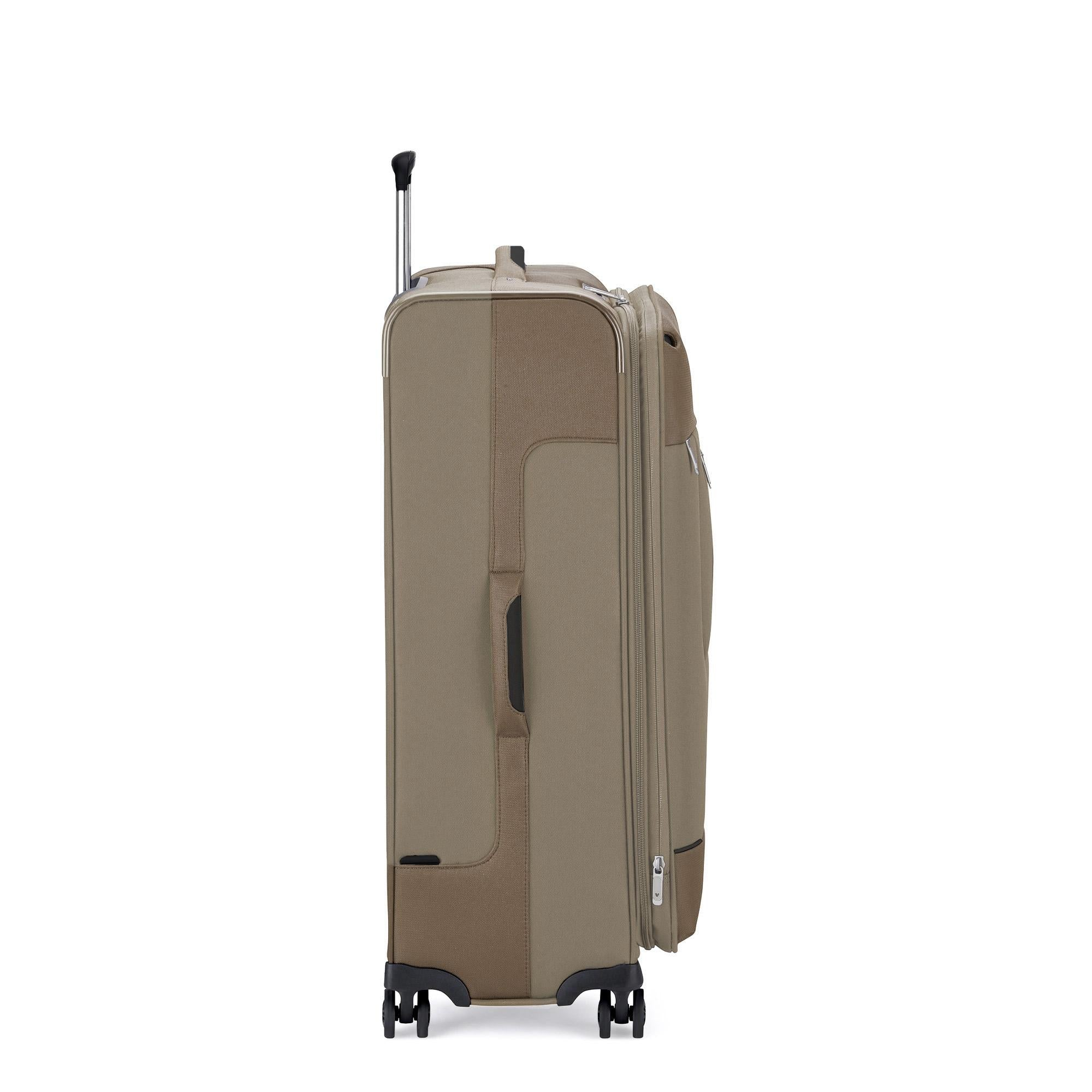 Roncato Sidetrack Large 75cm Upright Soft Side Trolley - Ecru