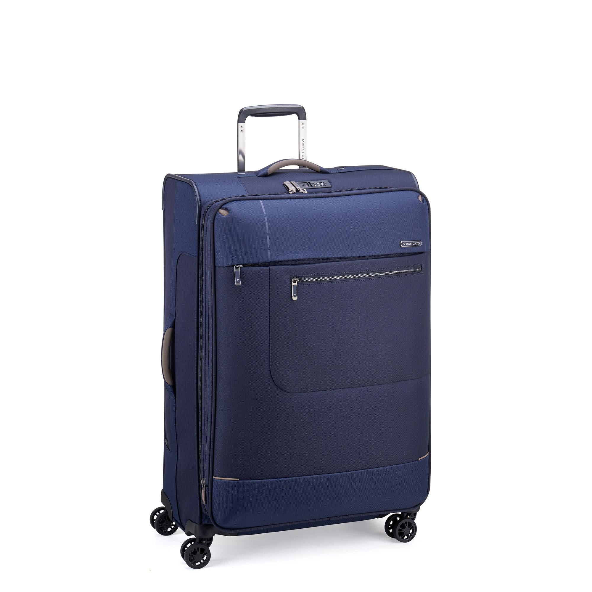 Roncato Sidetrack Large 75cm Upright Soft Side Trolley - Navy
