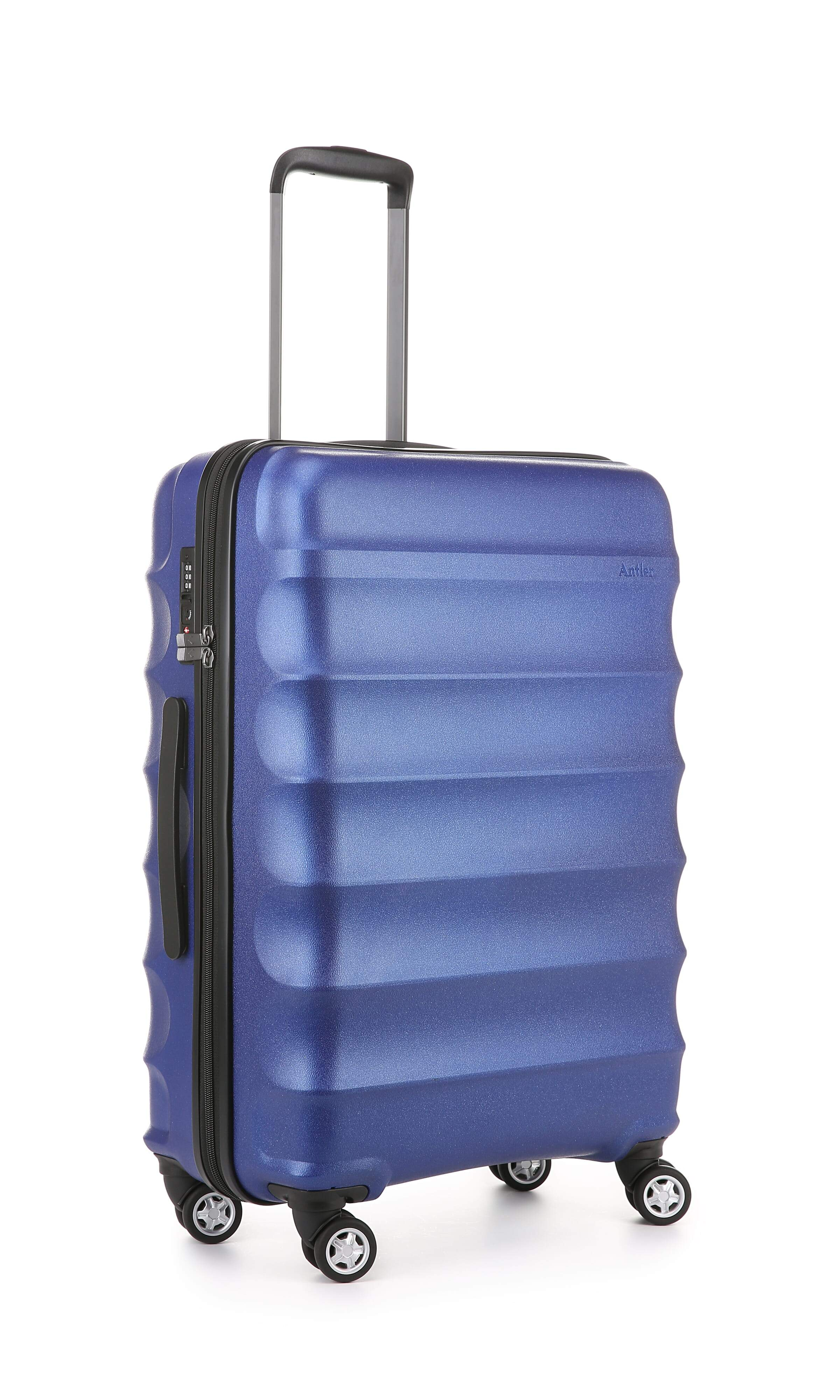 Antler Juno Metallic Suitecase Medium in Cobalt Blue
