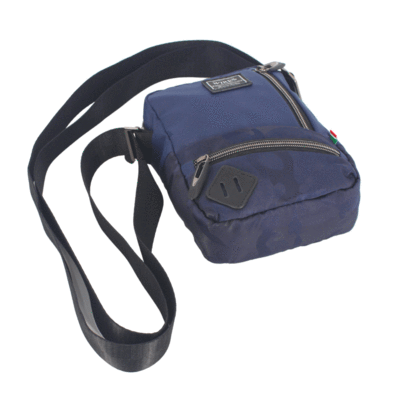 Wires Small Utility Bag, Navy Blue