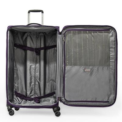 Zero Gravity Soft Case Luggage by Roncato with Beauty Case and PVC Cover, Deep Purple