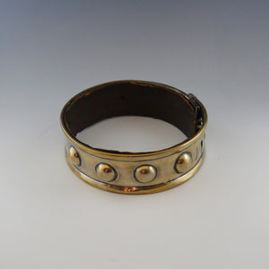 Leather Lined Brass Dog Collar