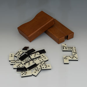Leather Cased Set of Dominos