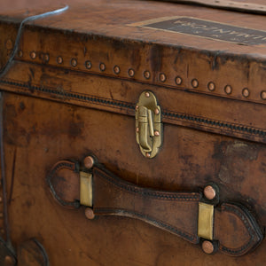 Leather Cabin Trunk by Finnigans