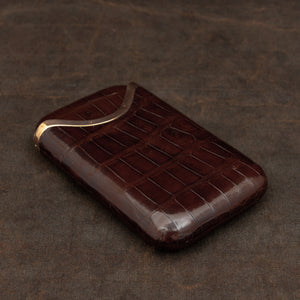Crocodile Skin Cigar Case
