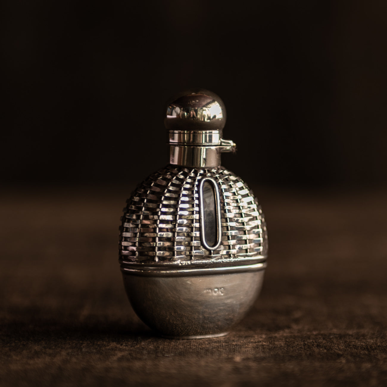 Small Woven Silver Flask