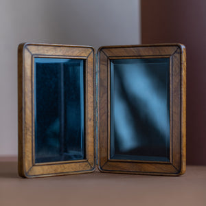 Hinged Olive Wood Double Picture Frame