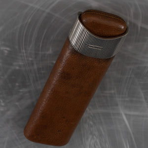 Pigskin Cigar Case with Silver Collar