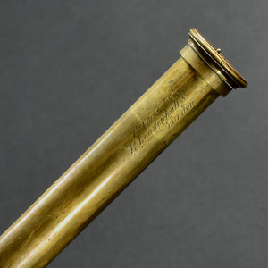 Leather and Brass Handheld Telescope