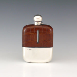 Crocodile Skin Hip Flask