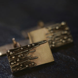 Gold 'Droplets' Cufflinks