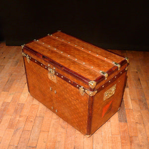 Louis Vuitton Brass Bound Steamer Trunk