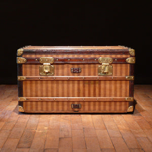 Louis Vuitton Striped Trunk Circa 1885