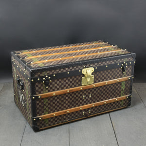 Louis Vuitton Steel Bound Damier Steamer Trunk