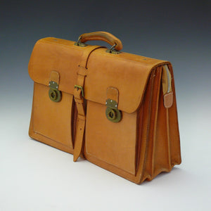 Light Tan Leather Briefcase