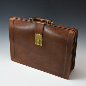 Leather 'A' Frame Briefcase