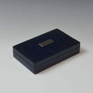 Blue Crocodile Skin Stud Box