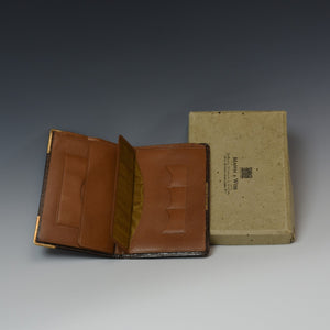 Boxed Crocodile Skin Wallet