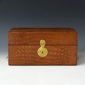Crocodile Skin Fitted Box
