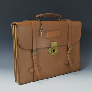Tan Bridle Leather Briefcase