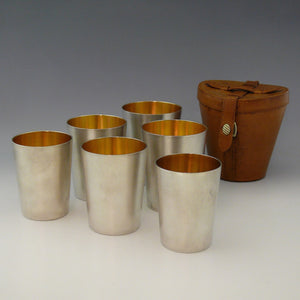 Cased Silver Beakers