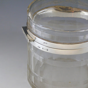 Large Glass and Silver Jar