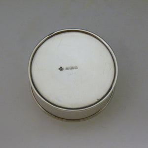Small Silver Tin/Pill Pot