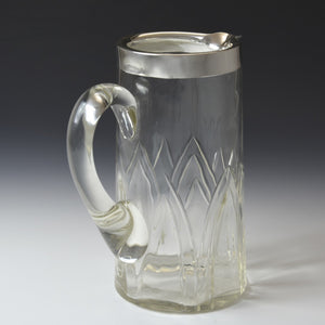 Silver Topped Cut Glass Jug