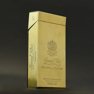 Oversize Benson and Hedges Silver-gilt cigarette box