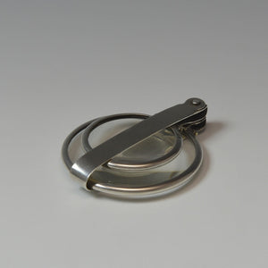 Silver Double Lens Magnifying Glass