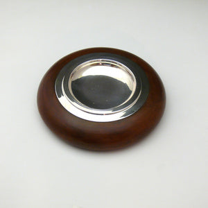 Leather and Continental Silver Ashtray