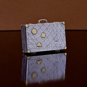 Miniature Silver Suitcase