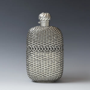 Woven Silver Flask