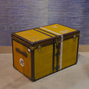 Yellow Louis Vuitton Steamer Trunk