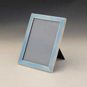 Blue Enamel and Silver Frame