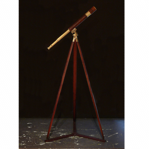 WWI Leather Covered Brass Telescope