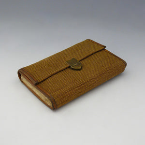 Exceptional Leather Trimmed Canvas Fly Wallet
