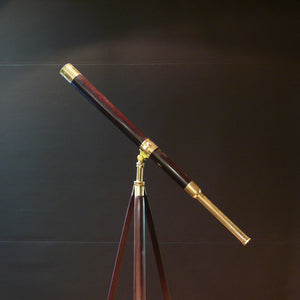 Cary Mahogany and Brass Telescope